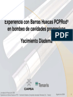 Experiencia Barras Bombeo HuecasPCP