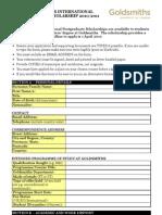 International Postgraduate Scholarship Application Form