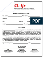 YCL-LJC Application Form