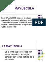 Uso de La Mayusculas