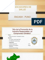 INDICADORES de Salud Ancash Puno