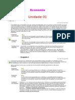Economia - Unidades 1 a 8
