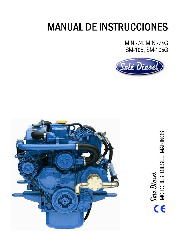 d29777283672e Manual de Instrucciones Del Motor Diesel Marino Mini-74   SOLÉ DIESEL