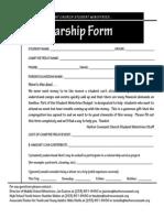 Scholarship Form Version 2010