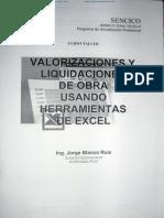 Valorizaciones y Liquidaciones de Obra(1)