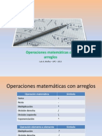 EL120 - Operaciones Matemáticas Con Arreglos(1)