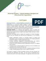 2014 Capacity Building of Aboriginal and Ethno-Racial Arts' Organizations -Draft