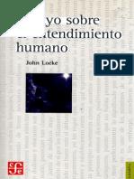 Locke, John - Ensayo Sobre El Entendimiento Humano