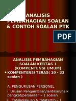 ANALISIS PEMBAHAGIAN SOALAN & CONTOH SOALAN PTK