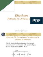 Ejercicios de TEMA II - Teoría CA - Análisis de Potencia en Circuitos de CA