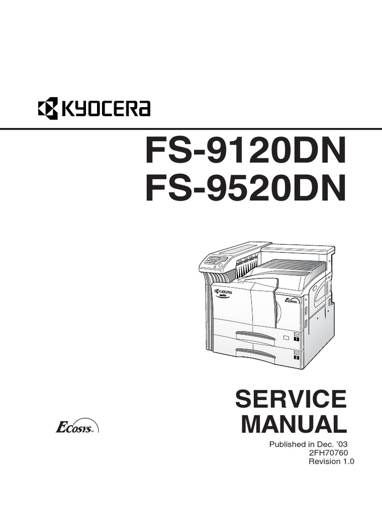 87324763 Kyocera Service Manual for FS 9120DN FS 9520DN