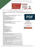 Auditor Líder Da Qualidade ISO 9001 - IRCA_2245 QMS Auditor_Lead Auditor Course (A17024) - Bureau Veritas Brasil - Treinamento