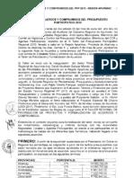 Acuerdos y Compromisos del Presupuesto Participativo 2010