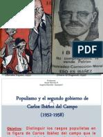 Populismo y El Segundo Gobierno de Ibáñez