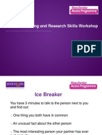 Academic Writing and Research Skills 2013