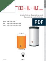 Puffer HLE,Manual Instalare Si Utilizare