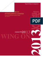 Wing On Company International Limited - 2013 Annual Report