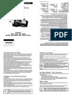 Davey XS250HG Manual