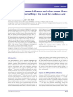 Clinical Care for Severe Influenza and Other Severe Illness in Resource-limited Settings the Need for Evidence and Guidelines
