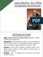Narayan Murthy Role Model of Corporate Governance