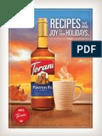 Torani Holiday Digital Cookbook 2013