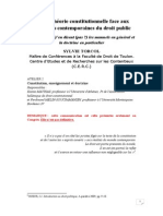 Theorie Constitutionelle Face Aux Mutations Contemporaines Du Droit Public_2008