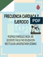 4. Frecuencia Cardiaca y Ejercicio Dr Rodrigo Meza