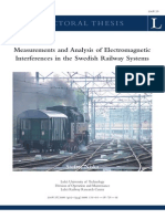 Measurements and Analysis of Electromagnetic Interferences in the Swedish Railway Systems