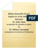 Scientific Errors found in Bible