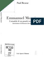 Ricoeur - Emmannuel Mounier