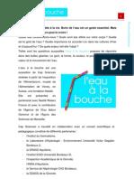 """Dossier pédagogique """"L'eau à la bouche"""""""