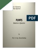 Pump Selection&Operation