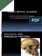 Maxillofacial Trauma-mandible # Final / orthodontic courses by Indian dental academy / orthodontic courses by Indian dental academy