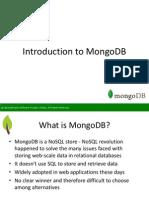 SpringPeople Introduction to MongoDB