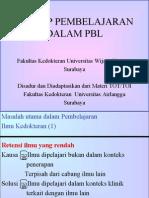 Prinsip Pembelajaran Dlm PBL