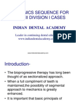 Mechanical Sequence for Class 2 Div 1 Cases / orthodontic courses by Indian dental academy