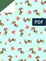 Deer Sh Room Pattern Paper
