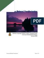 35 Indonesian Bahasa Familiarization