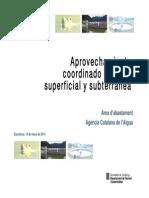 Aprovechamiento coordinado de agua superficial y subterránea (Monica Ondiviela)