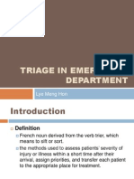 Triage in Emergency Department