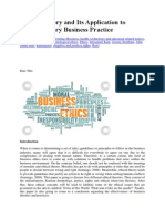 Ethical Theory and It Application to Contemporary Business Practice