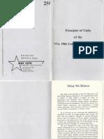 Principles Of Unity - May 19th Communist Organization