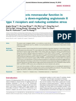 Calcitriol protects renovascular function in