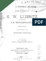 Leibnitz, Gottfried Wilhelm - Monadología