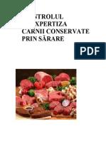 Controlul si expertiza carnii conservata prin sarare