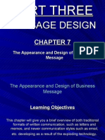 Chapter 7, The Appearance and Design of Business Message