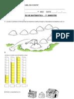 Avaliação Matemática 1º Ano - 1º Bimestre.doc