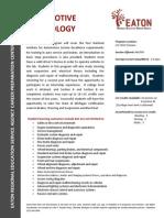 auto technology job decription
