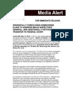 Media Alert - 5-19-14