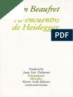 Al Encuentro Con Heidegger - Jean Beaufret